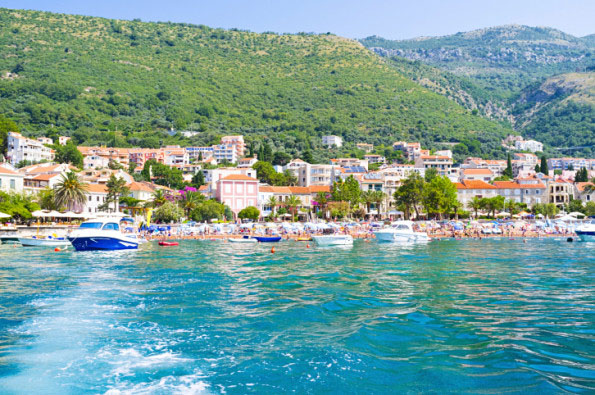 Petrovac from the sea